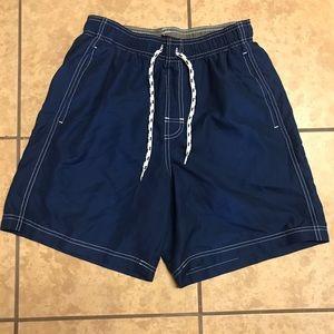 Men's blue swim trunks